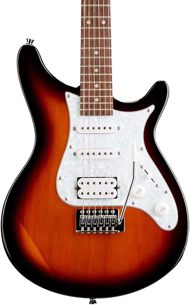 Rogue Rocketeer Deluxe Guitarra Eléctrica Vintage Sunburst: Amazon ...