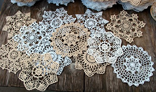 Handmade Doily New Crocheted - Granny's Hutch New lot of 12 Hand Crochet Doilies 7
