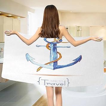 Amazon.com: Anchor toalla de baño Old Sailor Spirit cartel ...