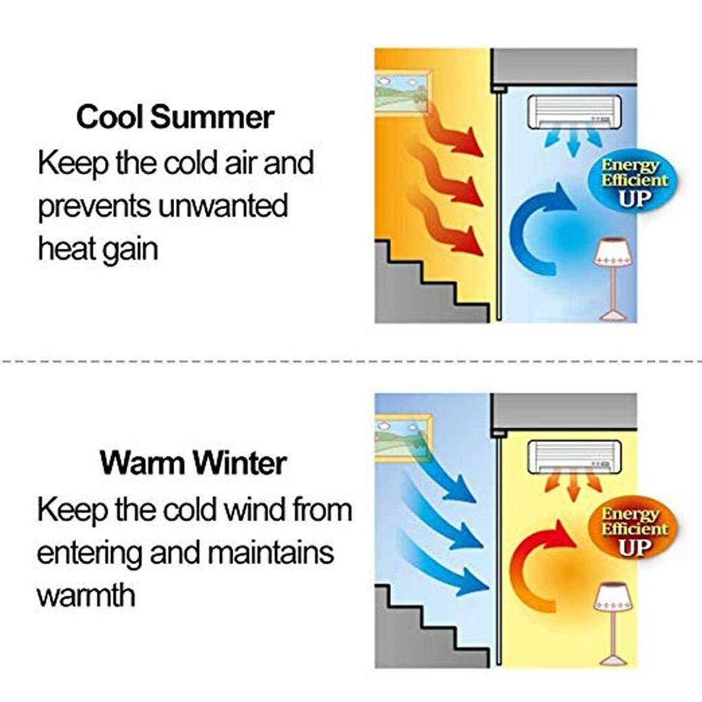 avec fen/être transparente Maintien au chaud Coupe-vent imperm/éable Isolation thermique Convient au dortoir d/école-80x220cm 31x87inch -E Rideau de porte en coton dhiver