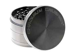 """Chromium Crusher Zinc 4 Piece Gunmetal - Herb & Spice Mill/Grinder (2.5"""")"""