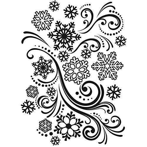 Darice 1218-39 Embossing Folder, 4.25 by 5.75-Inch, Snowflake Swirl Design (Templates Darice)