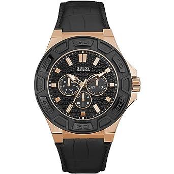 Mit Herren Guess Armband Uhr Chronograph Leder W0674g6 Quarz vmN80wn