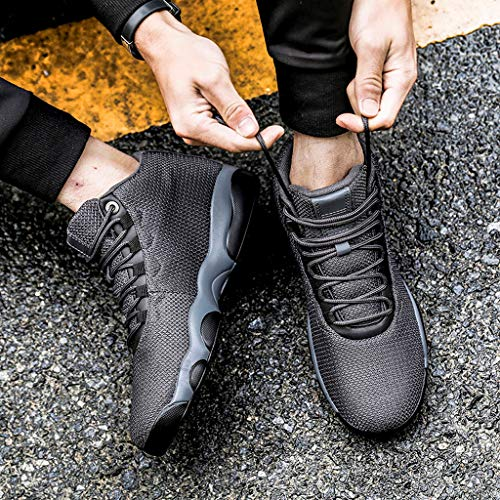 Running Basketball Shoe,Men Net Surface Flat Non-Slip Breathable Lightweight Youth Sports Sneakers Gym Training Shoes Gray by Hotcl (Image #2)