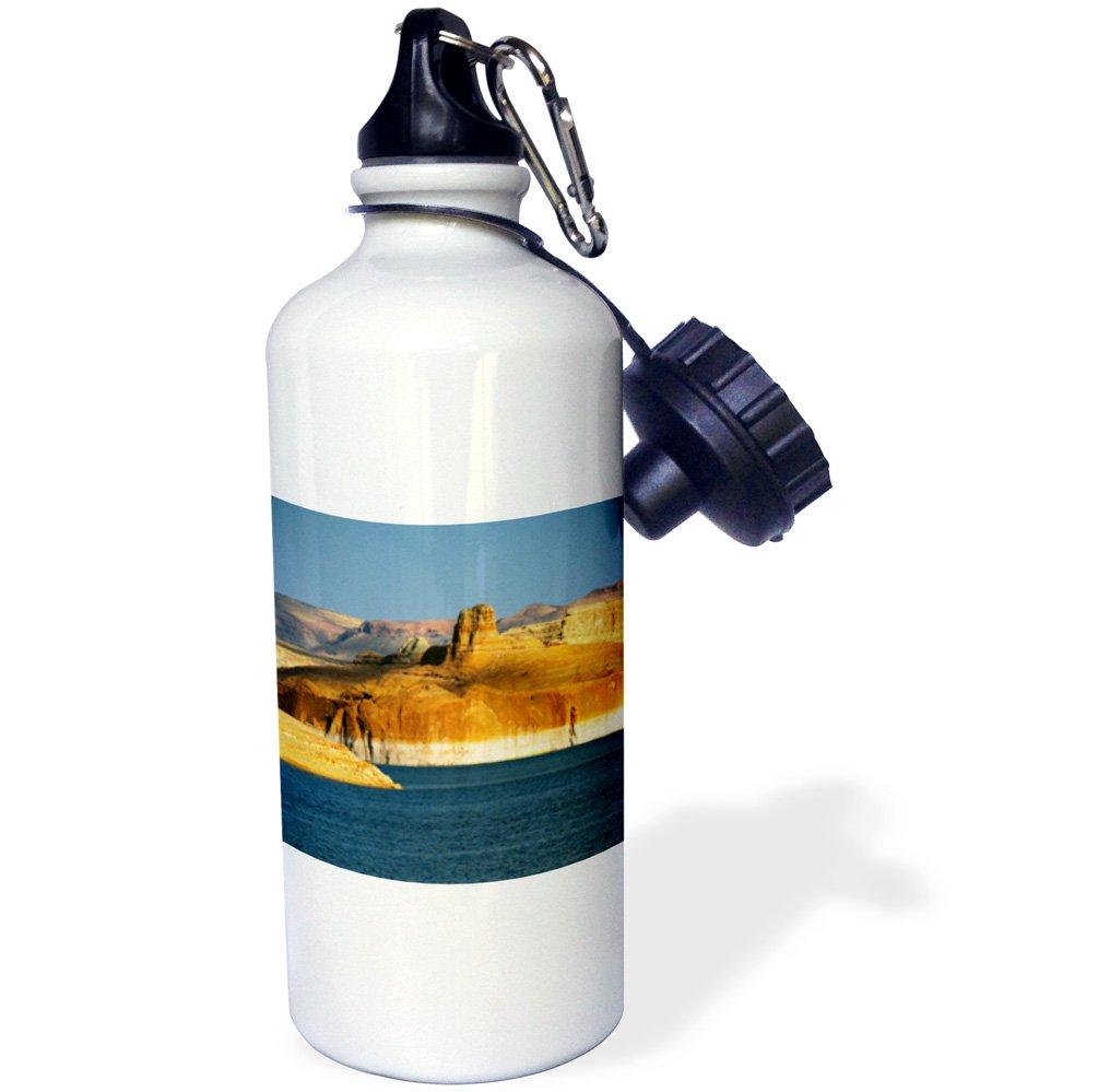 USA US03 MHE0049 Michel Hersen Sports Water Bottle Arizona Glen Canyon White 3dRose wb/_142502/_1Lake Powell 21 oz Page