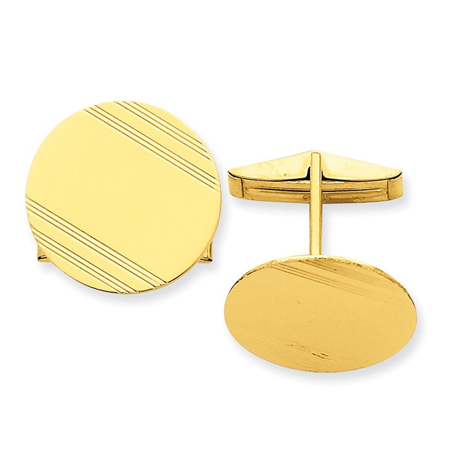 Solid 14k Yellow Gold Cuff Links (20mm x 20mm)