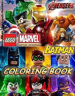 Lego MARVEL AVENGERS BATMAN COLORING BOOK For Kids Boys Girls