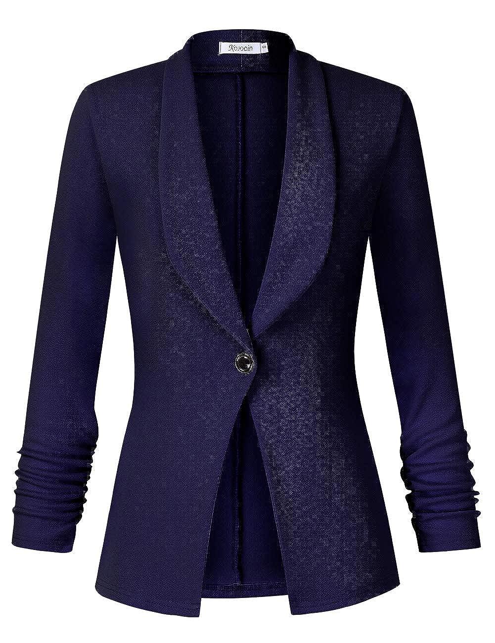 Blazer Cardigan 3//4 Braccio Bolero Business Giacca Slim Fit Trenchcoat Confezione MeHRWEG KOJOOIN