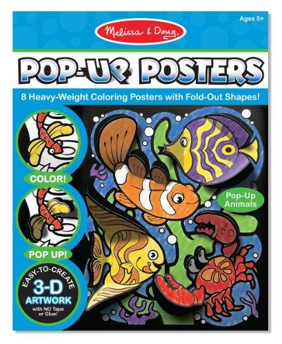 Melissa Doug 5283 Pop Up Posters Animals