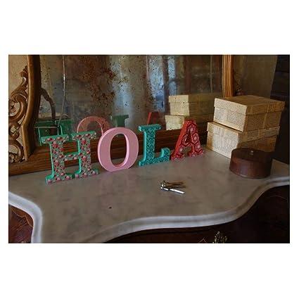 Letras de madera. Letras grandes de madera DM de 20cm de alto para decoración y manualidades. Disponible el Alfabeto completo (&)