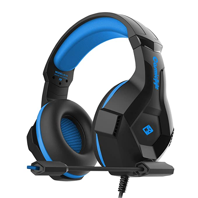 Cosmic Byte H11 Gaming Headset with Microphone  Black/Blue  Headsets
