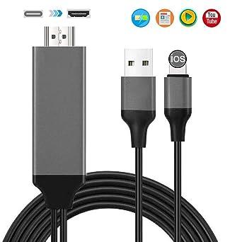 NDTECH Compatible con Pad Phone a Cable HDMI, Adaptador HDMI para Phone, Compatible con Phone XS/XSmax/XR/X / 8/7/6/6 / Plus Pad Pod a TV (Black): Amazon.es: Industria, empresas y ciencia