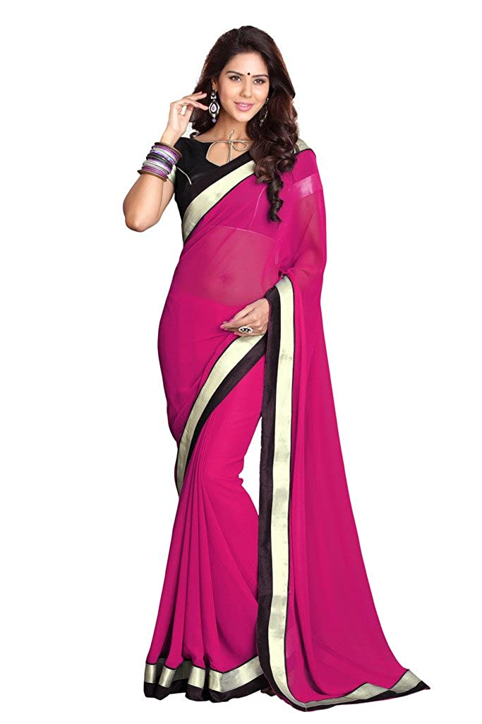 Damen Bollywood Saree mit Ungesteckt Oberteil/Top Mirchi Fashion Indian Sari 7154A
