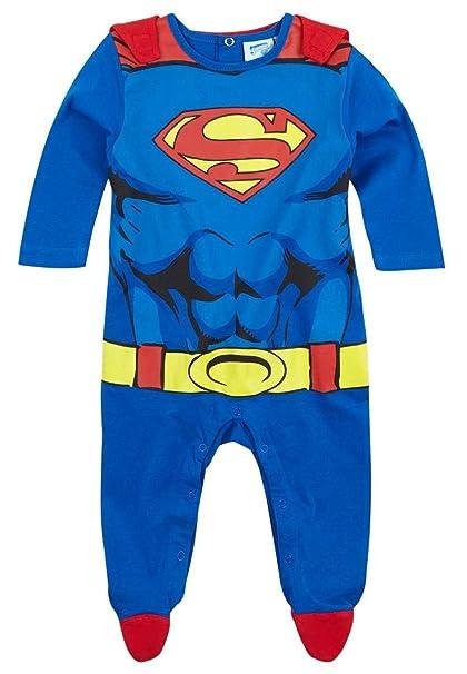 Pijama con capa bebé disfraz Superman azul/rojo de 3 a 24 Meses azul azul