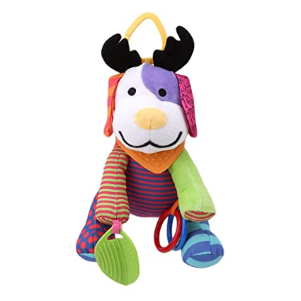 Kemai - Colgante de peluche para cochecito de bebé, juguetes de dibujos animados, mancuernas
