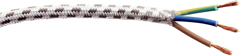 SPARES2GO 2m Universal Steam Generator Iron Mains Cable Flex Lead 3 Core, 2 Metre