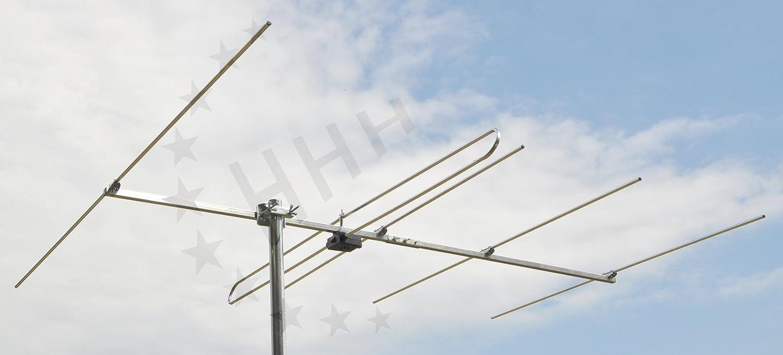 3H de FM de 5 – 5 Elementos Yagi FM/FM Antena con conector F para Horizontal o Vertical exterior o unterda chmontage