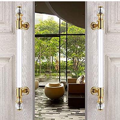 QuRRong Tirador para Muebles Manija de la Puerta del Estilo Europeo Hotel Club Puerta de Acero Inoxidable de Cristal de Madera de la manija de Cristal de la Puerta para Armario Empotrado: