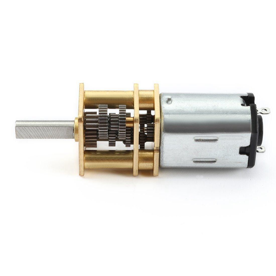 Andifany DC 6V 10RPM Motor de reduccion de micro-velocidad motor de caja de engranaje con 2 terminales para RC coche barco Robot Modelo DIY Juguete de motor