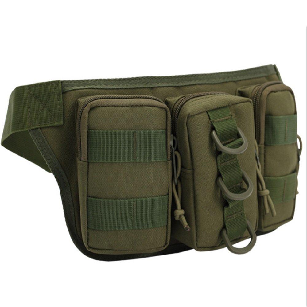 Maybesky Laufender Gürtel Multifunktionale Outdoor DREI Taschen Camo Beutel Taschen männlichen persönlichen Taschen für iPhone X, 8, 7, 6S, SE, Galaxy S9 +, S9, S8 +,