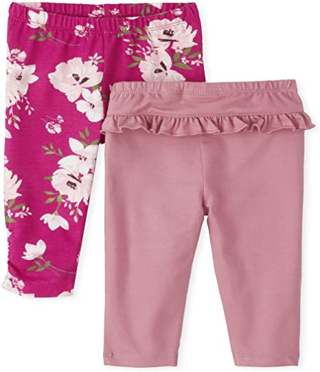 The Childrens Place Baby Girls Leopard Pants 2-Pack