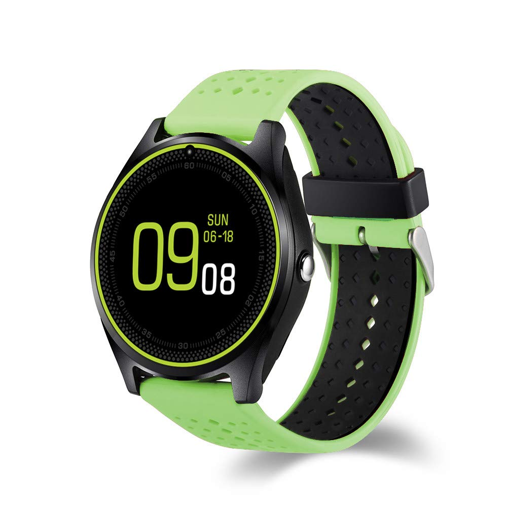 FuriGer Fitness Tracker with Camera for Android, Bluetooth Activity Tracker Watch Men Women with Heart Rate/Sleep Monitor,Step/Calorie Counter Pedometer for iPhone&Android Smartphone-Green