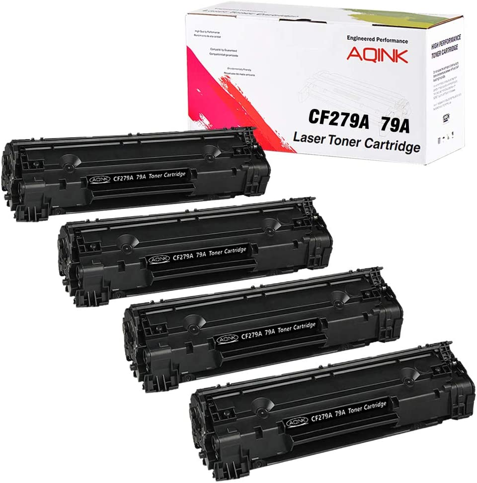 CF279A Toner Cartridge Compatible with 79A Toner for use in Laserjet Pro M12a, Laserjet Pro M12w, Laserjet Pro MFP M26nw, Laserjet Pro MFP M26a Printer by UniVirgin (Black / 4 Pack)