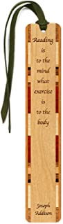 product image for Joseph Addison - Reading & Exercise Quote - Engraved Wooden Bookmark with Suede Tassel - Search B07VDV8RN5 for Personalized Version