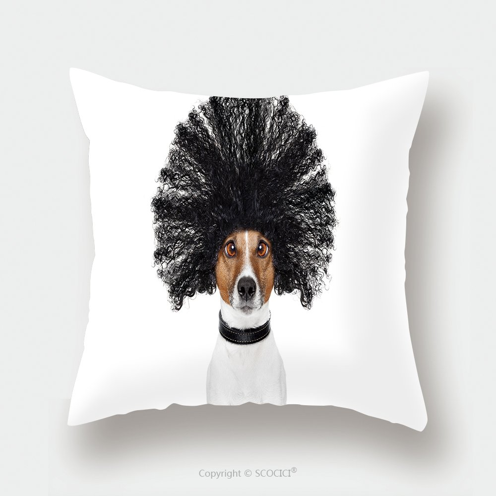 Custom Satin Pillowcase Protector Bad Hair Day Dog Ready To Look Beautiful At The Wellness Spa Salon Isolated On White Background 556414666 Pillow Case Covers Decorative