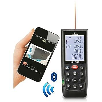 Beliebt TOOLCRAFT LDM-70BT Laser-Entfernungsmesser Bluetooth: Amazon.de DF43