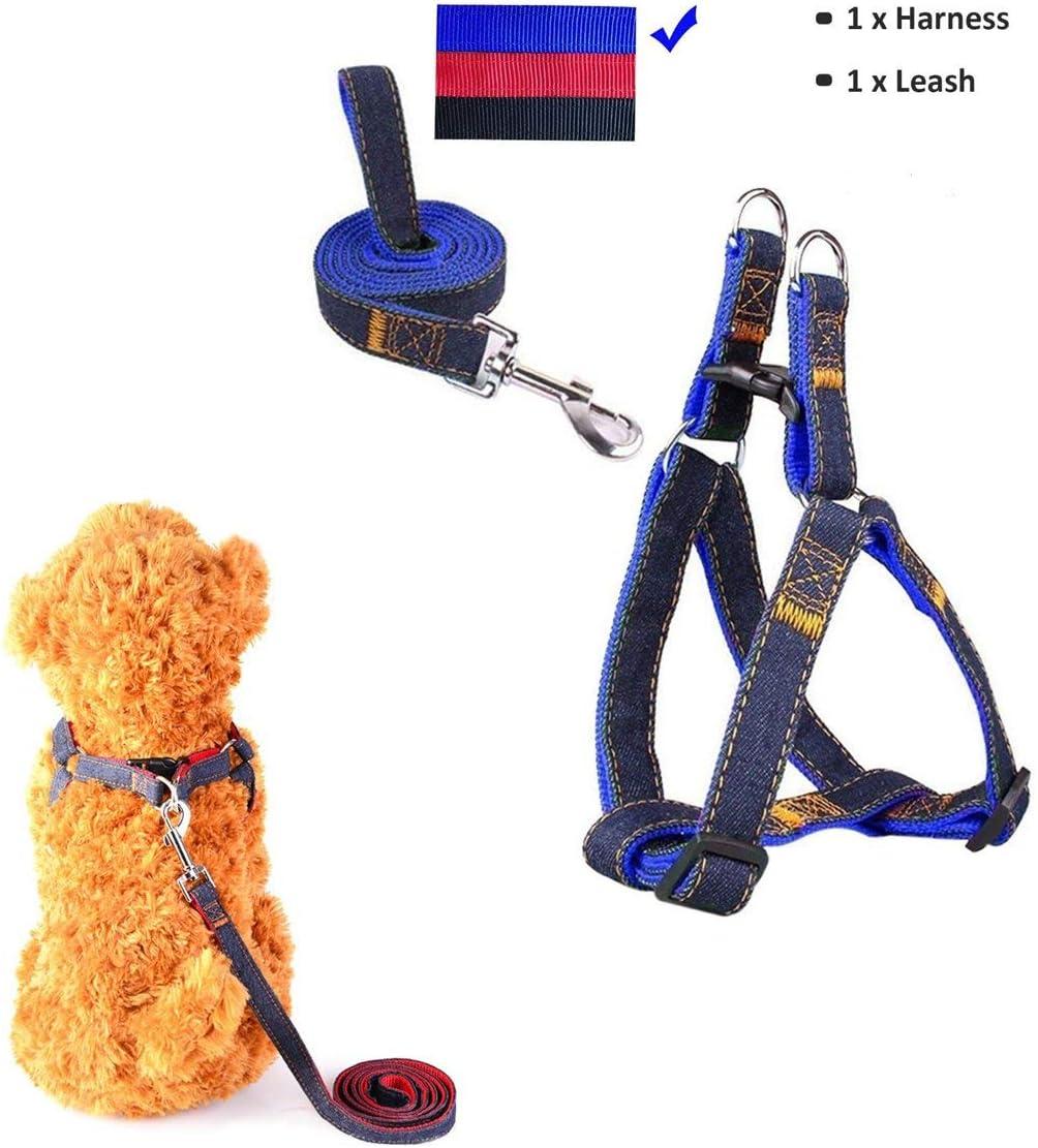 Sopito arn/és con Correa Ajustable de Vaquero para Mascotas Perro,Gato,cintur/ón de Pecho y Espalda