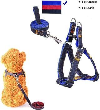 Image of Sopito arnés con Correa Ajustable de Vaquero para Mascotas Perro,Gato,cinturón de Pecho y Espalda