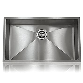 Stainless Single Steel Hand Made Undermount Kitchen Sink, Home Design MODEL  S SS