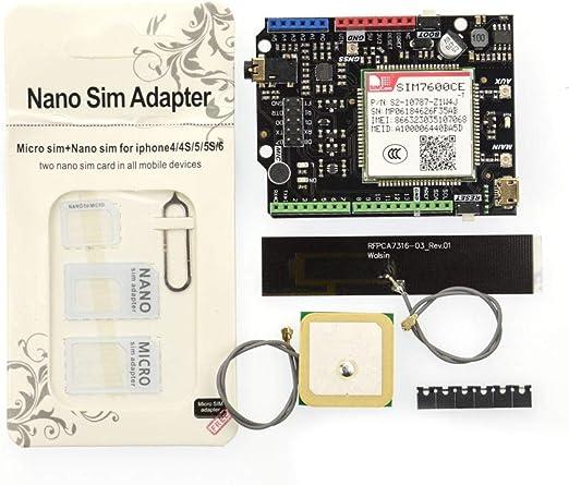 SIM7600CE-T 4G(LTE) GPS gsm Arduino Shield con Antena para Arduino UNO, Leonardo, Mega – un módulo de comunicación 4G/3G/2G y posicionamiento GNSS