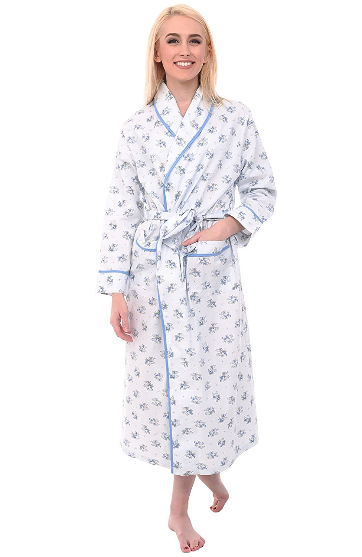 6f350ec473 Alexander Del Rossa Womens Floral Cotton Summer Robe