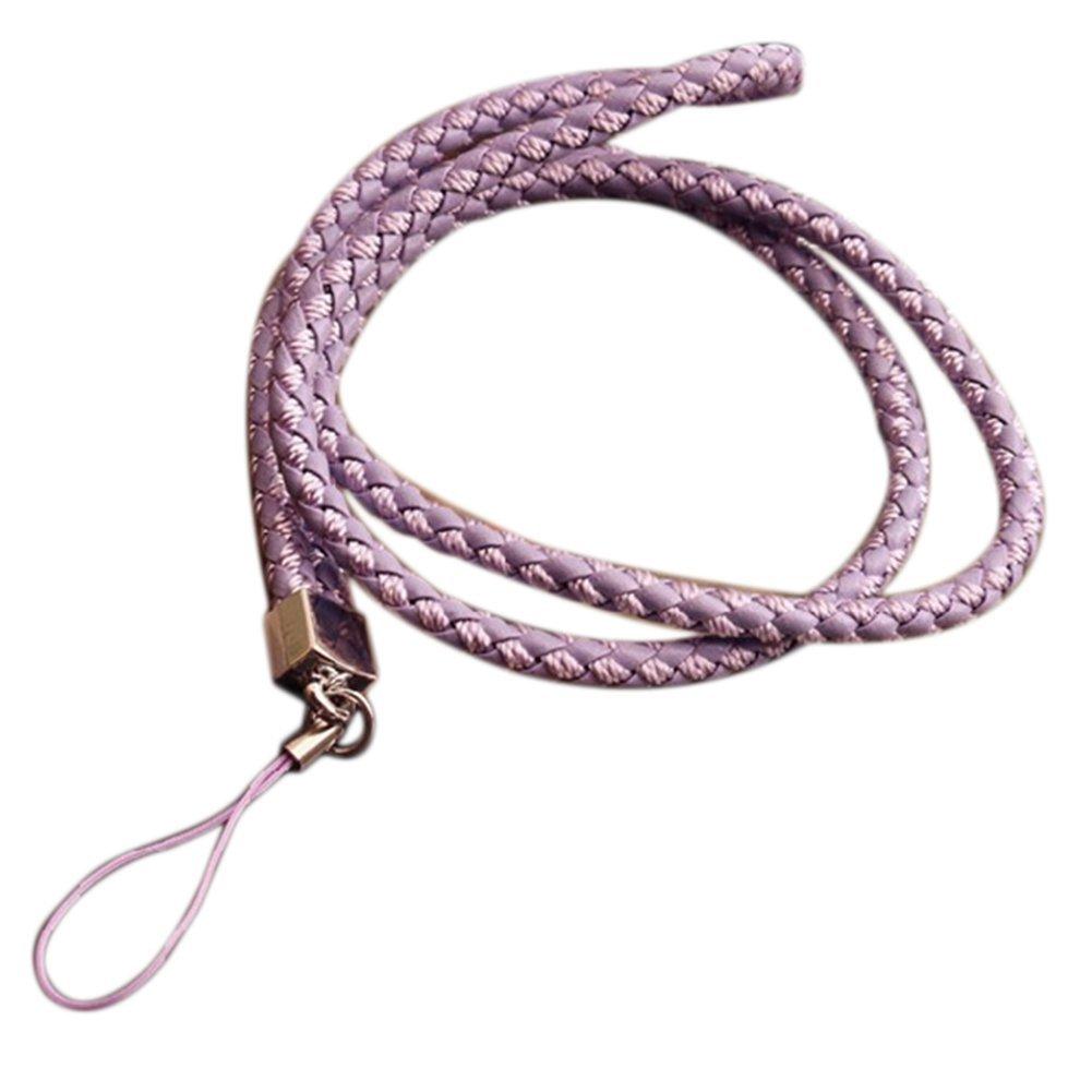 Cosanter, portachiavi, laccio da collo con cinghia per telefono cellulare, fotocamere, unità flash USB, slot guscio, 45cm lunghezza, colore rosa 45cm nero
