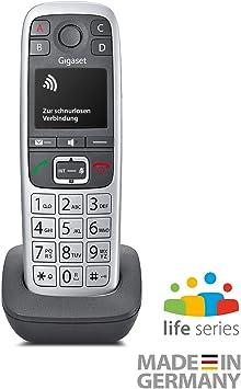 Gigaset E560HX Analog/DECT Telephone Gris, Plata Identificador de Llamadas: Amazon.es: Electrónica