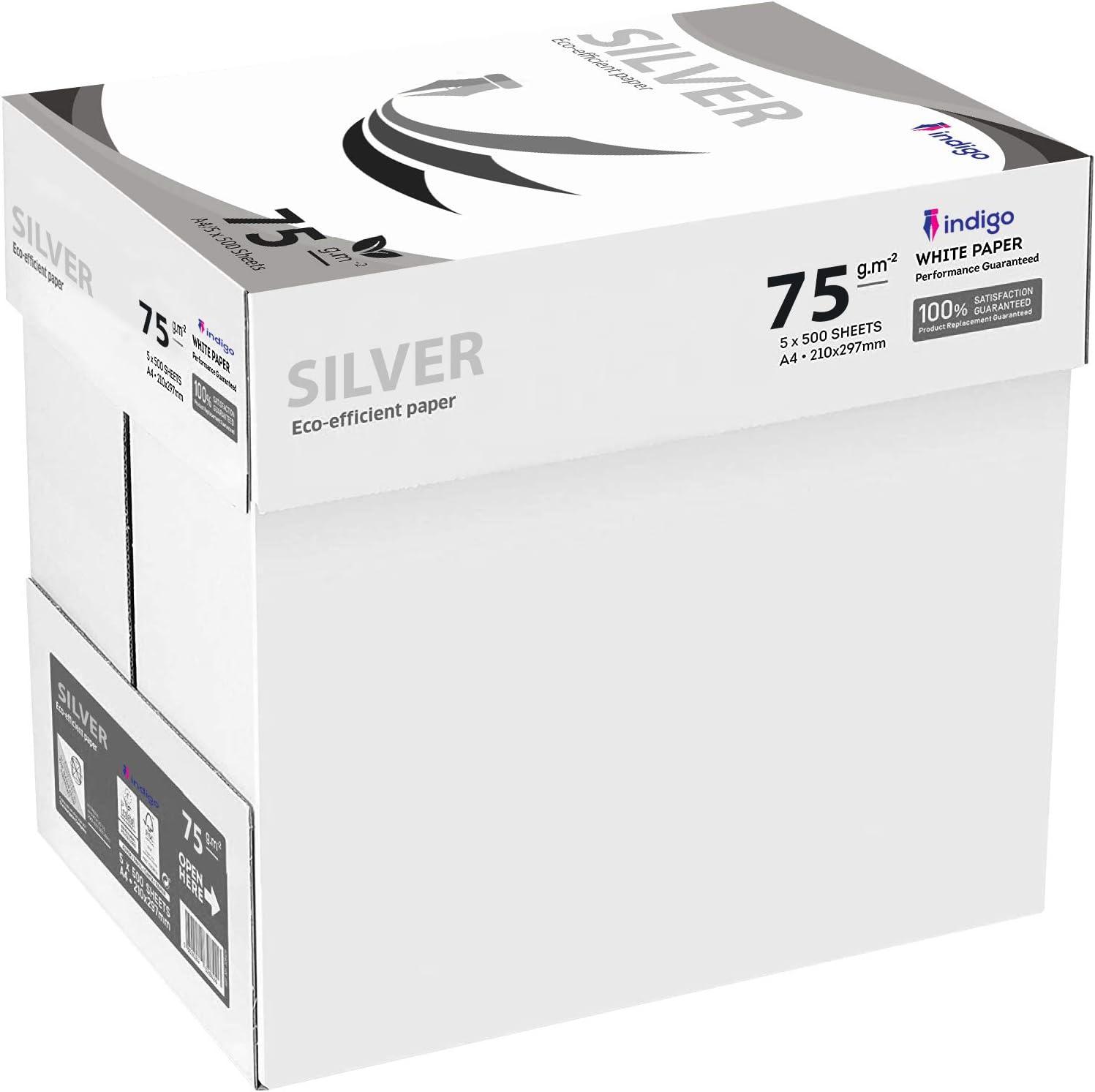 A4 Paper Office White Printer Copier Paper (80gsm) Multifunction Laser papel para impresora de inyección de tinta 10 Boxes (50 Reams): Amazon.es: Oficina y papelería