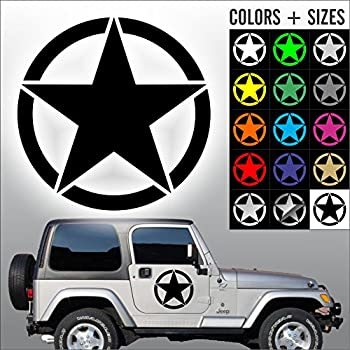 Military Invasion Star Decal Set Of 3 One 20 Inch