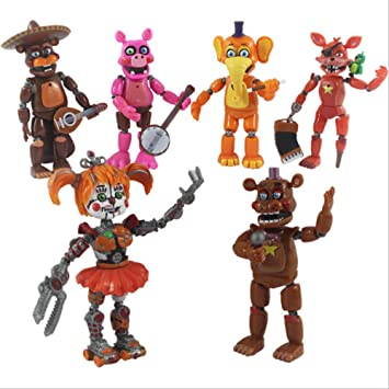 6 Unids / Set Five Nights At Freddy Figura De Acción De Juguete, FNAF Bonnie Foxy Freddy Fazbear Bear Figurines Muñeca De Juguete con Luz: Amazon.es: Juguetes y juegos