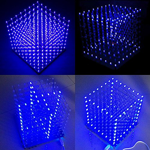 Led Light Cube 8X8X8 Kit in US - 2