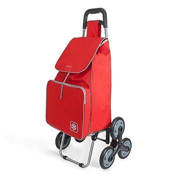 Metaltex Peony - Carro de Compra con 6 Ruedas, 48 Litros, Rojo: Amazon.es: Hogar