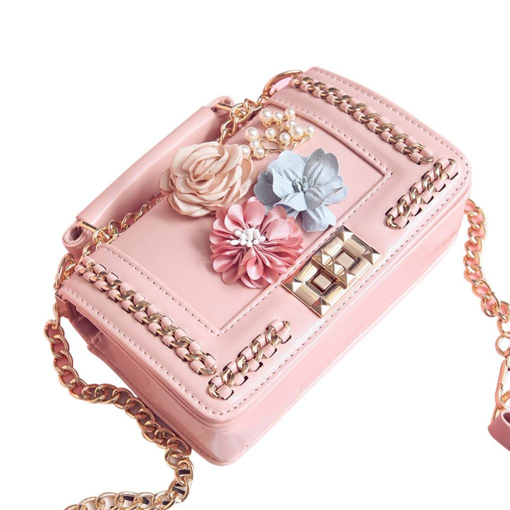 Bags,AIMTOPPY Fashion Women Mini Bead Beach Bag Shoulder Bags Lnclined Shoulder Bag Coin Bag (Pink, free) by AIMTOPPY Bag