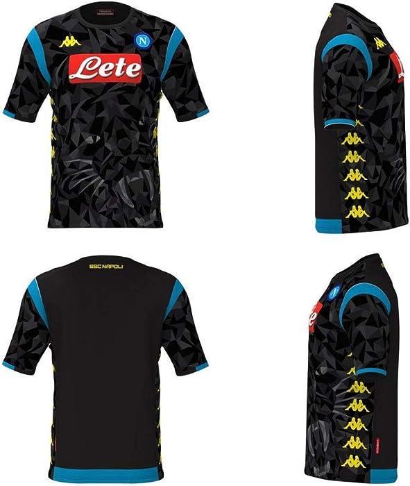 Kappa SSC Napoli Champion s League Replica Away Black Shirt 2018-19  Original M (Chest c7abb4d195141