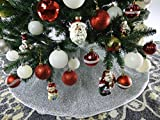 "42"" Silver Shinny Tinsel Christmas Tree Skirt - Silver"