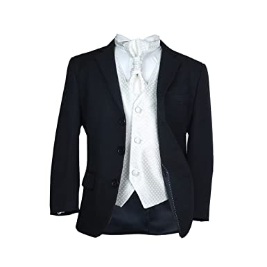 à vendre grande remise pour achat original SIRRI Boys Noir et ivoire Costume de mariage garçon Bal ...