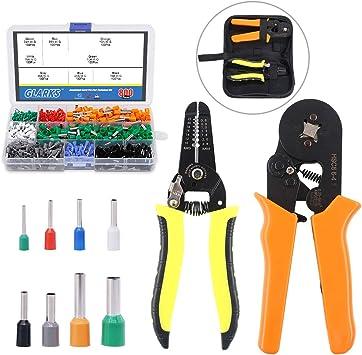 Crimp Tool Kit Ferrule Crimper Plier Wire Stripper Terminal Wire Home Tool USA