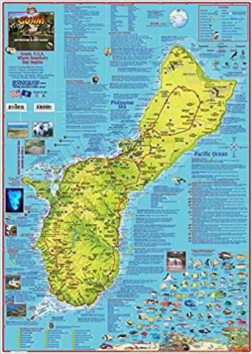 Guam Adventure & Dive Guide Laminated Map Poster: Franko ... on map explorer, map police, map zoom,