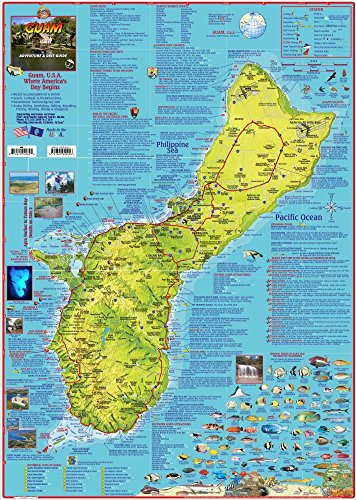 Guam Adventure & Dive Guide Franko Maps Waterproof Map