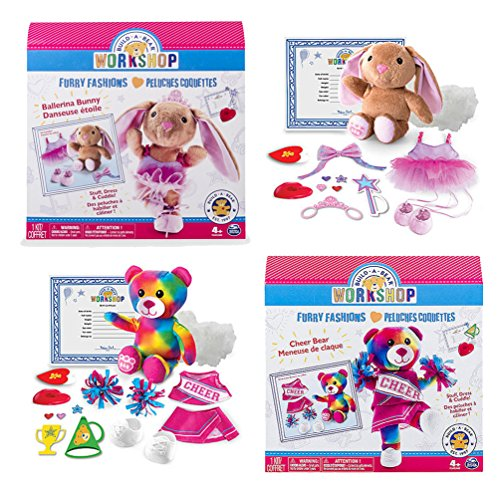 Build A Bear Stuffing Station Furry Fashions Refill and Accessory Sets - Ballerina Bunny & Cheer Bear (Build A Bear Certificate compare prices)